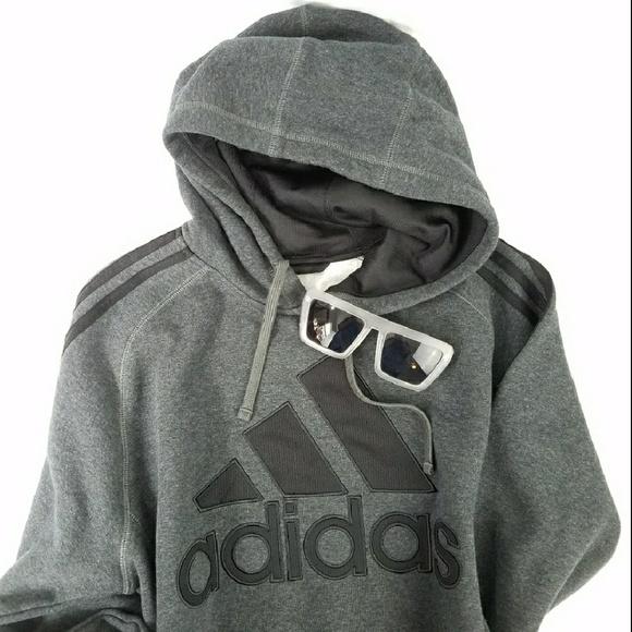 b6ff98f4b80c adidas Shirts   Dark Grey Trefoil Hoodie Sweatshirt   Poshmark